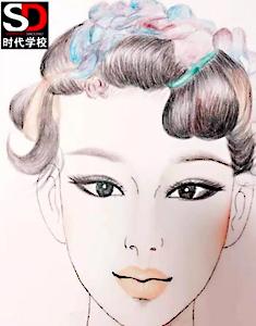 3D美妆素描作品