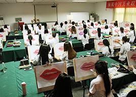 3D化妆素描大赛现场